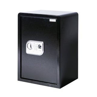 HomCom Large Fingerprint Electronic Gun Safe Box with Keypad Lock Security