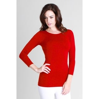 Nikibiki Women's Seamless 3/4 Sleeve Crew Neck Top