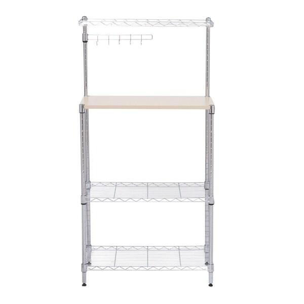 """HomCom 47"""" Bakers Rack Organizer Kitchen Prep Station With Cutting Board"""