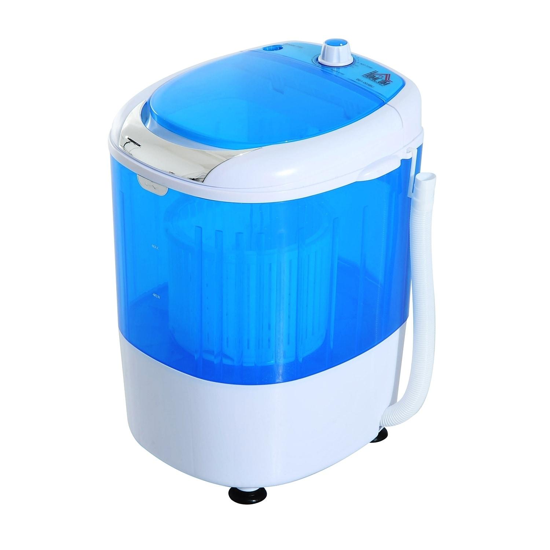 HomCom Portable Electric Washing Machine Top Load Spin Wa...