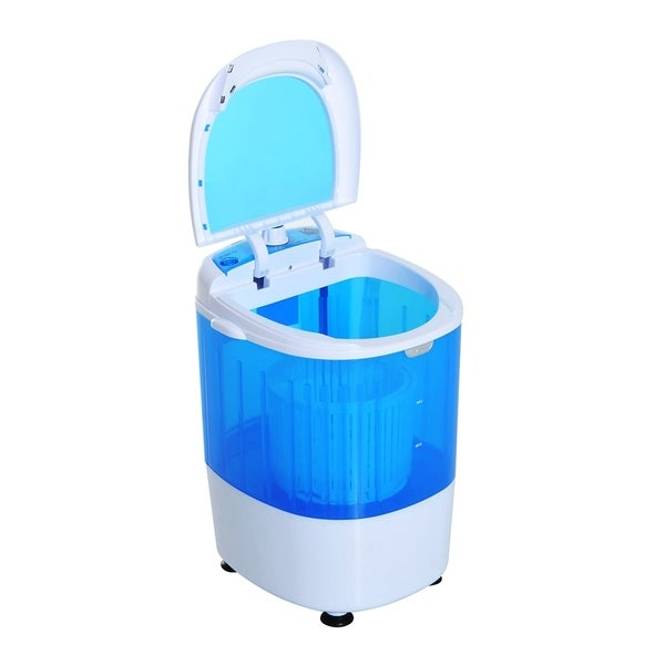 Amazing HomCom Portable Electric Washing Machine Top Load Spin Wash And Dry   Free  Shipping Today   Overstock.com   24204859