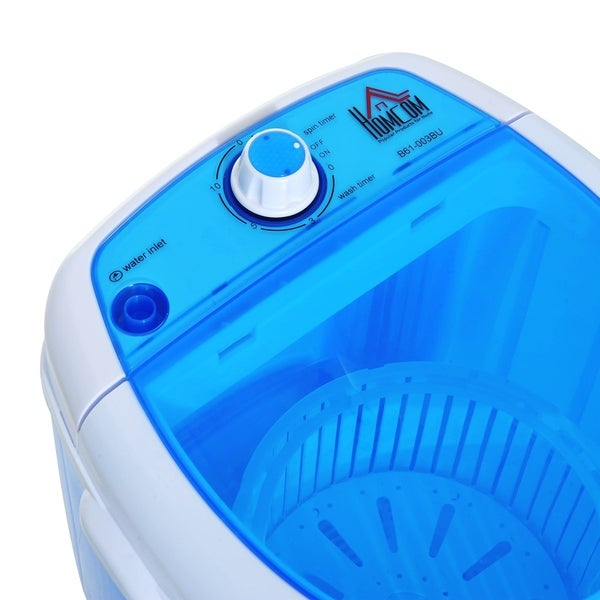 HomCom Portable Electric Washing Machine Top Load Spin Wash And Dry   Free  Shipping Today   Overstock.com   24204859
