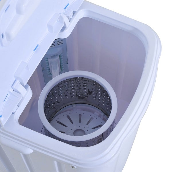HomCom Top Load Portable Electric Washing Machine With Spin Wash And Dry    Free Shipping Today   Overstock.com   24204851