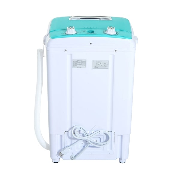 HomCom Top Load Portable Electric Washing Machine With Spin Wash And Dry    Free Shipping Today   Overstock.com   24204860