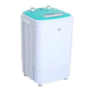 HomCom Top Load Portable Electric Washing Machine with Spin Wash and Dry