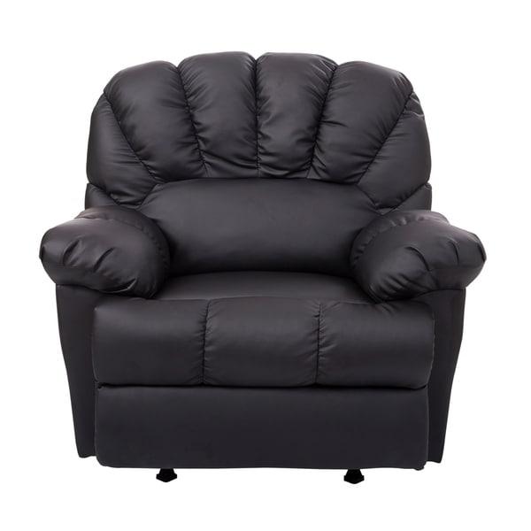 Homcom Pu Leather Rocking Sofa Chair Recliner