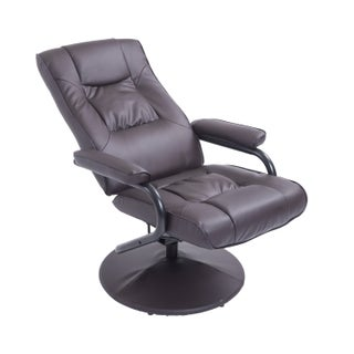 HomCom PVC Leather Recliner and Ottoman Set