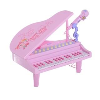 Qaba Kids Baby Grand Digital Piano with Microphone