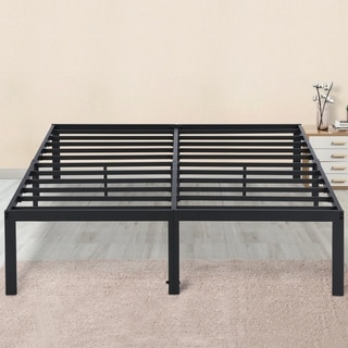 Sleeplanner 14-inch Full-Size Dura Metal Steel Slate Bed Frame OVT-2000 Gray
