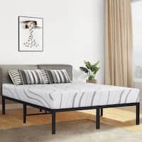 Sleeplanner 14-inch Twin-Size Dura Round Edge Steel Slat Bed Frame OVT-2000