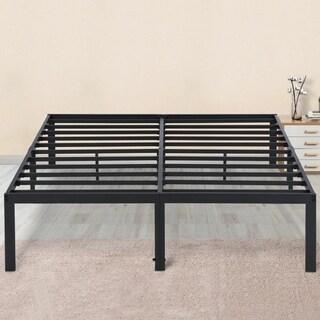 Sleeplanner 14-inch Queen-Size Dura Metal Steel Slate Bed Frame OVT-2000 Gray