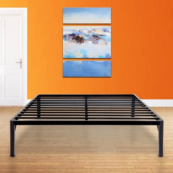 Shop Sleeplanner 16 Inch Metal Platform Bed Frame With Steel Slats