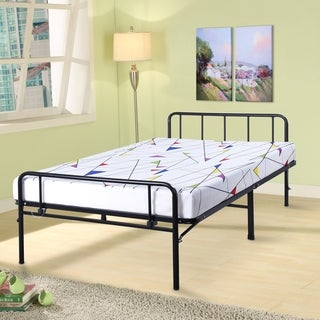 Sleeplanner 14-inch Twin-Size Dura Metal Light Bed Frame with Headboard & Footboard