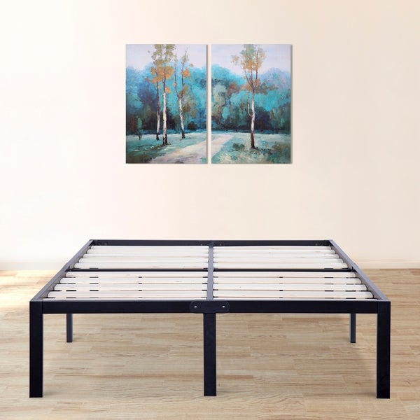 Shop Sleeplanner 14 Inch Queen Size Dura Metal Bed Frame