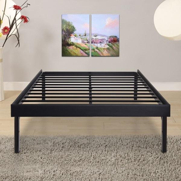 Shop Sleeplanner 18 Inch Full Size Steel Slat Bed Frame