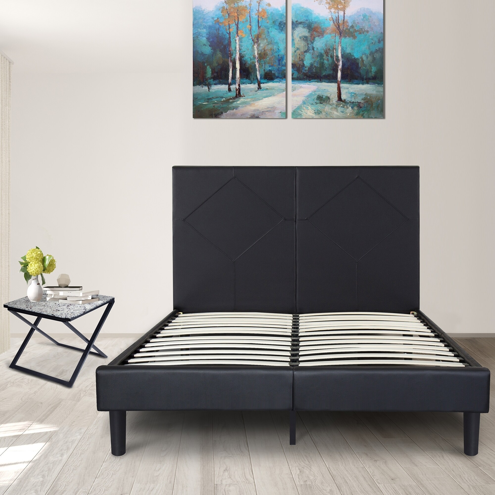 Metal Upholstered Bed Frame