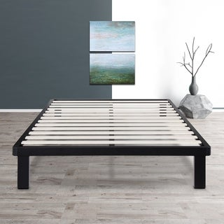 Sleeplanner 14-inch King-Size Dura Metal Bed Frame with Wood Slat