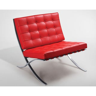Chanel Barcelona Red Leather/Stainless Steel Lounge Chair