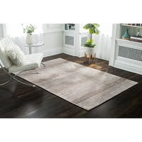 Jani Heath Brown Wool/Jute Mix Rug - 8' x 10'