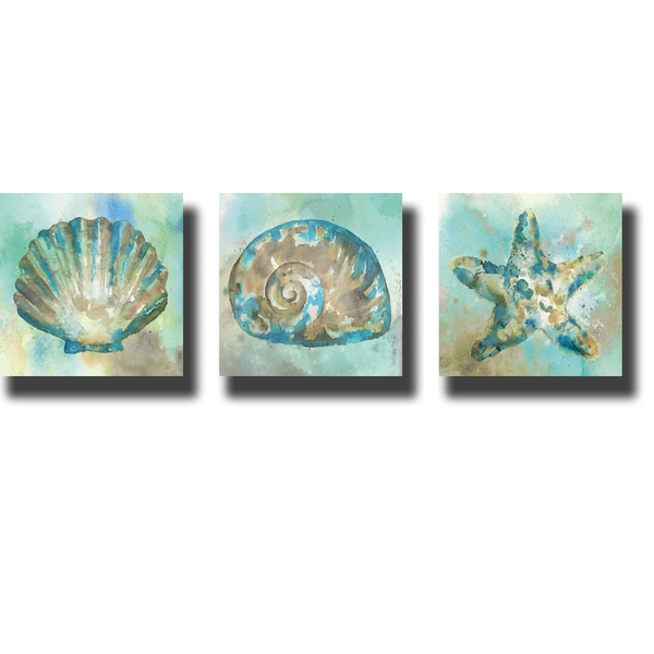 Sand I, II, & III by Stephane Fontaine 3-piece Gallery-Wrapped Canvas Giclee Art Set