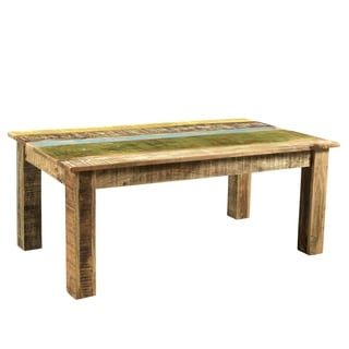 "Handmade Suman Mango Wood Coffee Table - 46"" x 25.5"" x 18"" (India)"