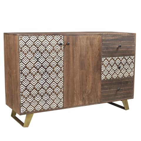 "Handmade Olga Retro Sideboard (India) - 55"" x 18"" x 36"""