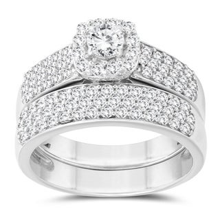 1 1/4 Carat TW Diamond Bridal Set in 14K White Gold