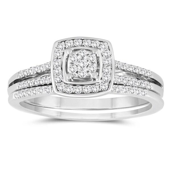 Shop 1/3 Carat TW Diamond Engagement Ring And Wedding Band