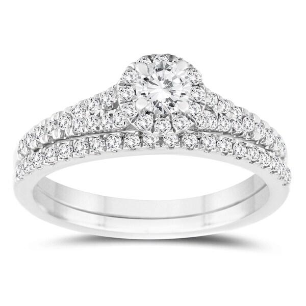 Shop 3 4 Carat Tw Diamond Engagement Ring And Wedding Band