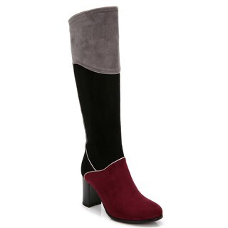 Rosewand Women's 'Manuel' Three-tone Heels Boots