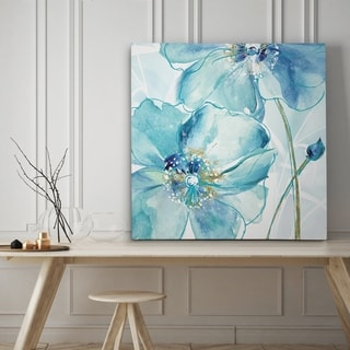 Blue Spring Poppy II - Premium Gallery Wrapped Canvas - 4 Sizes Available