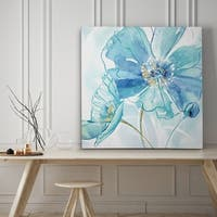 Blue Spring Poppy I - Premium Gallery Wrapped Canvas - 4 Sizes Available