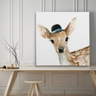 Cute Critter Deer - Premium Gallery Wrapped Canvas - 4 Sizes Available