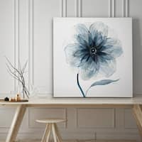 Indigo Bloom III - Premium Gallery Wrapped Canvas - 4 Sizes Available