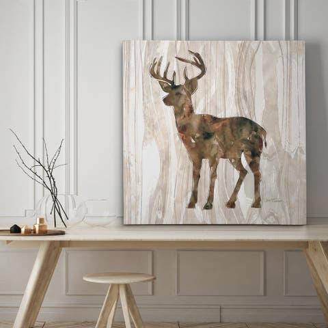 Pine Forest Deer - Premium Gallery Wrapped Canvas - 4 Sizes Available