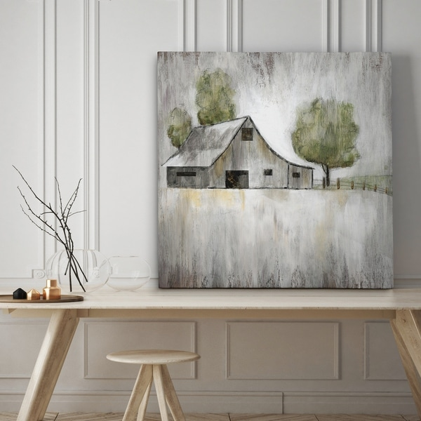 shop weathered barn premium gallery wrapped canvas 4 sizes