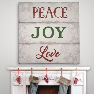 Peace, Joy, Love - Premium Gallery Wrapped Canvas - 4 Sizes Available