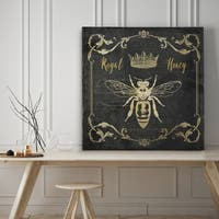 Royal Honey Bee I - Premium Gallery Wrapped Canvas - 4 Sizes Available