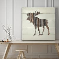 Woodland Moose - Premium Gallery Wrapped Canvas - 4 Sizes Available