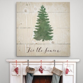 Tis the Season Pine - Premium Gallery Wrapped Canvas - 4 Sizes Available