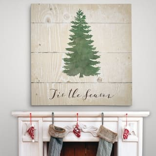 Tis the Season Pine - Premium Gallery Wrapped Canvas - 4 Sizes Available|https://ak1.ostkcdn.com/images/products/18040981/P24206730.jpg?impolicy=medium