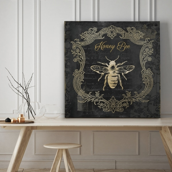 Royal Honey Bee II - Premium Gallery Wrapped Canvas - 4 Sizes Available