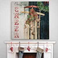 Christmas Cheer Sled - Premium Gallery Wrapped Canvas - 4 Sizes Available