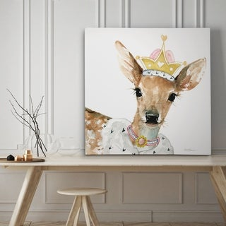 Glamour Girls Deer - Premium Gallery Wrapped Canvas - 4 Sizes Available