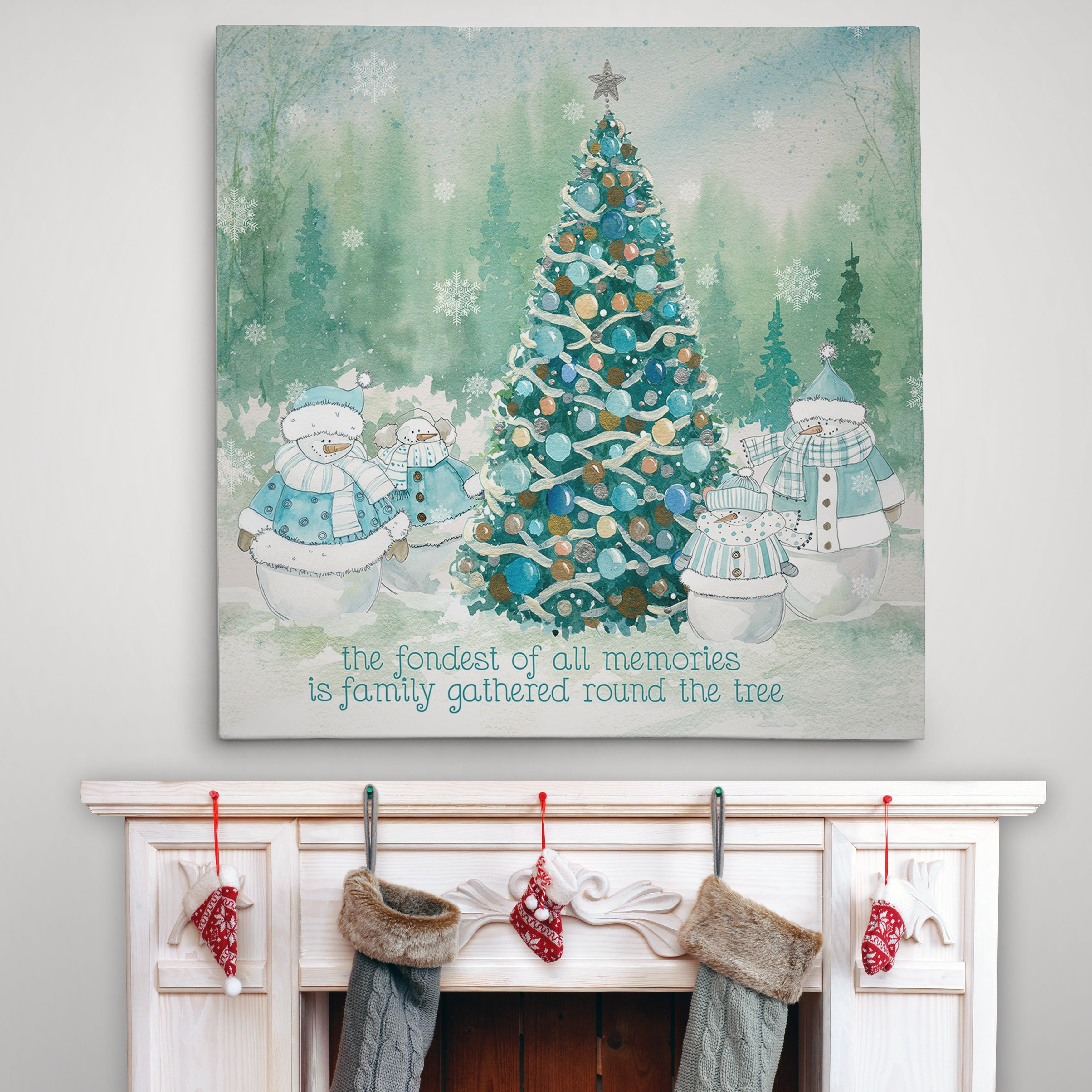 Wexford Home Snowman Family - Premium Gallery Wrapped Can...
