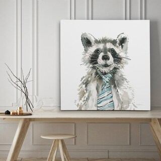 Cute Critter Raccoon - Premium Gallery Wrapped Canvas - 4 Sizes Available