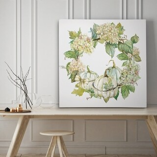 End of Summer Wreath - Premium Gallery Wrapped Canvas - 4 Sizes Available