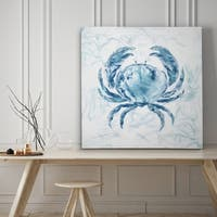 Blue Marble Coast Crab - Premium Gallery Wrapped Canvas - 4 Sizes Available