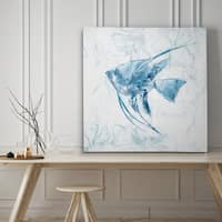 Blue Marble Tropical Fish - Premium Gallery Wrapped Canvas - 4 Sizes Available