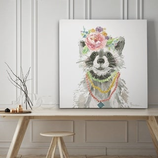 Glamour Girls Raccoon - Premium Gallery Wrapped Canvas - 4 Sizes Available